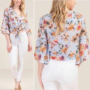 New Francesca's Laney Floral Button Down Blouse